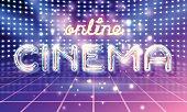 Online CINEMA lettering