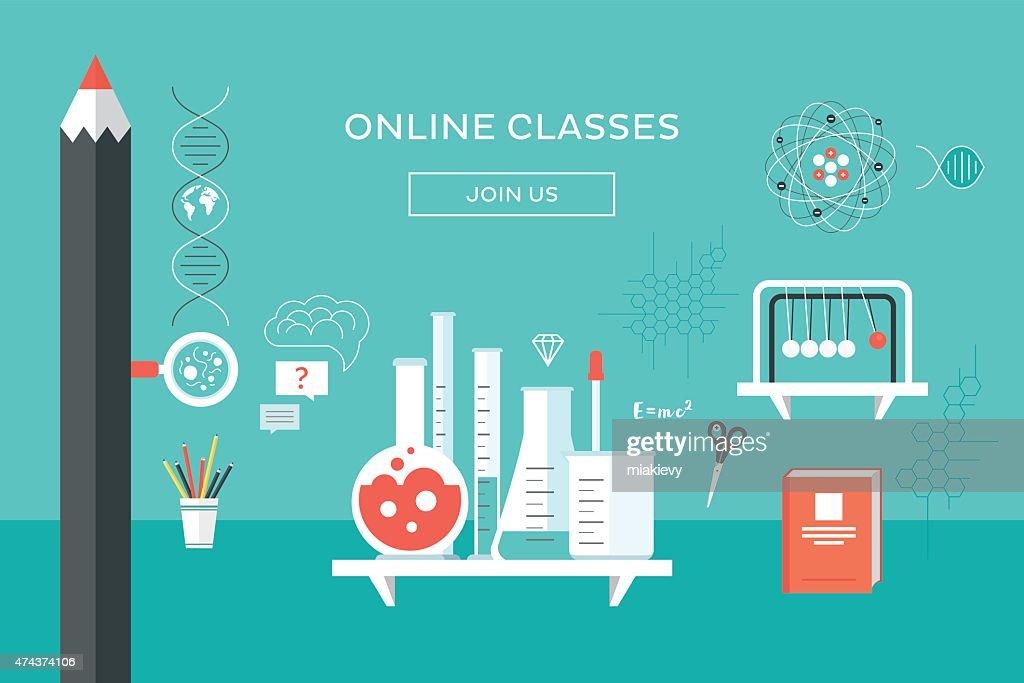Online classes : stock illustration