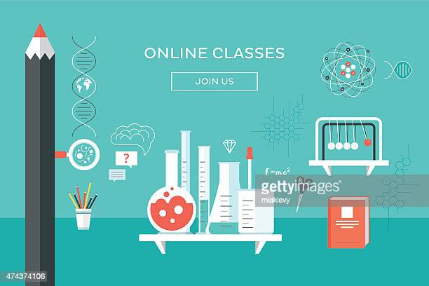 online classes - desk toy stock illustrations, clip art, cartoons, & icons