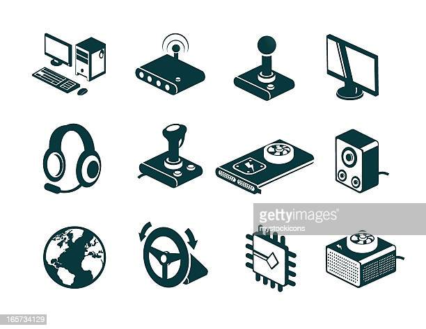 Online Computer Gaming Icons