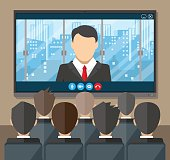 Online conference. Internet meeting, video call
