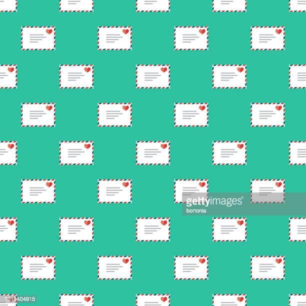 online dating pattern - love letter stock illustrations