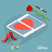 Online dating service vector concept.