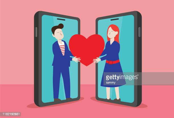 online datiert - dating stock-grafiken, -clipart, -cartoons und -symbole