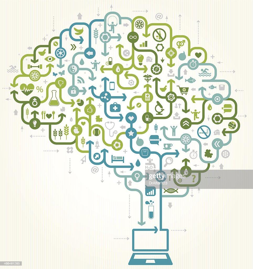 Online E Health : stock illustration
