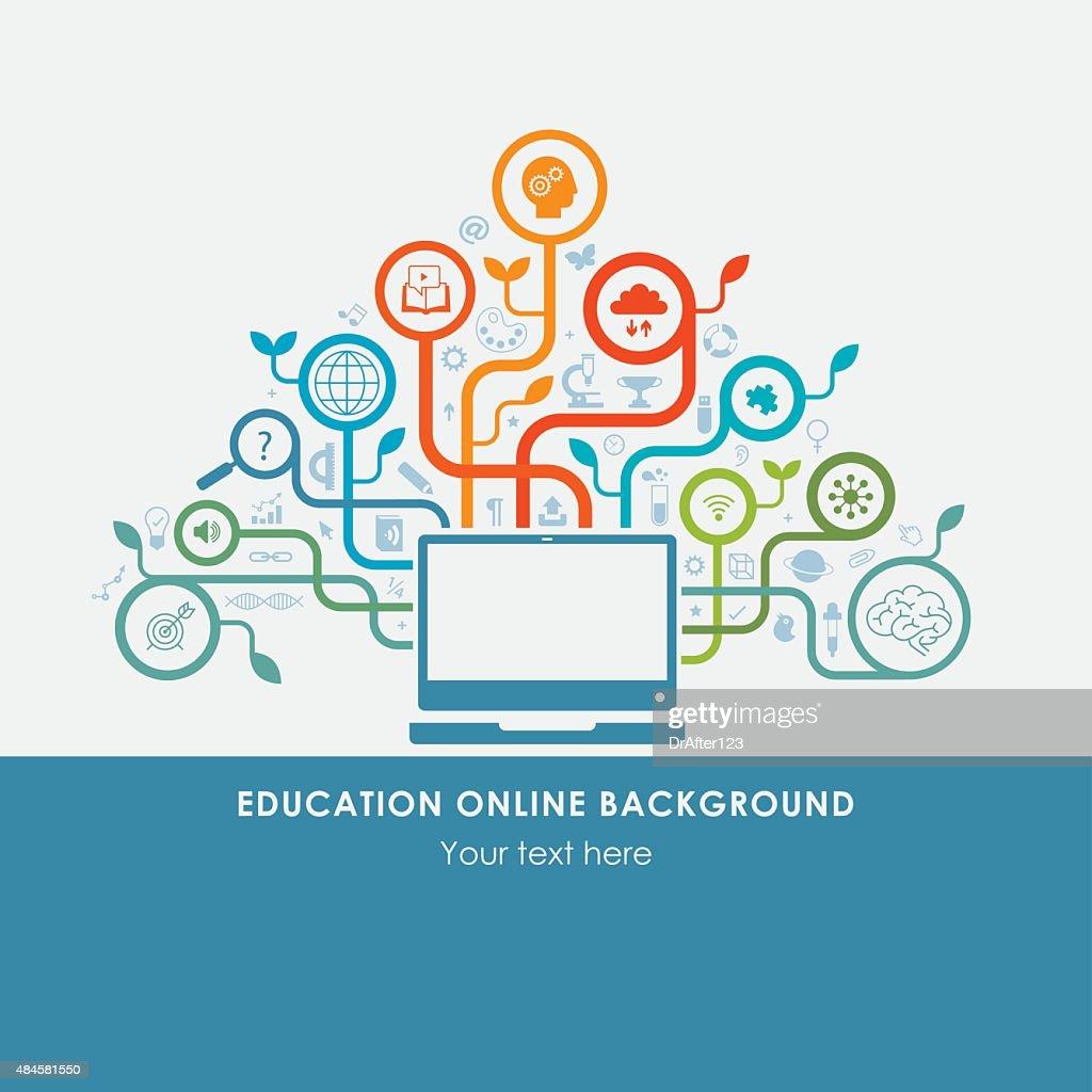 Online Education Background : stock illustration