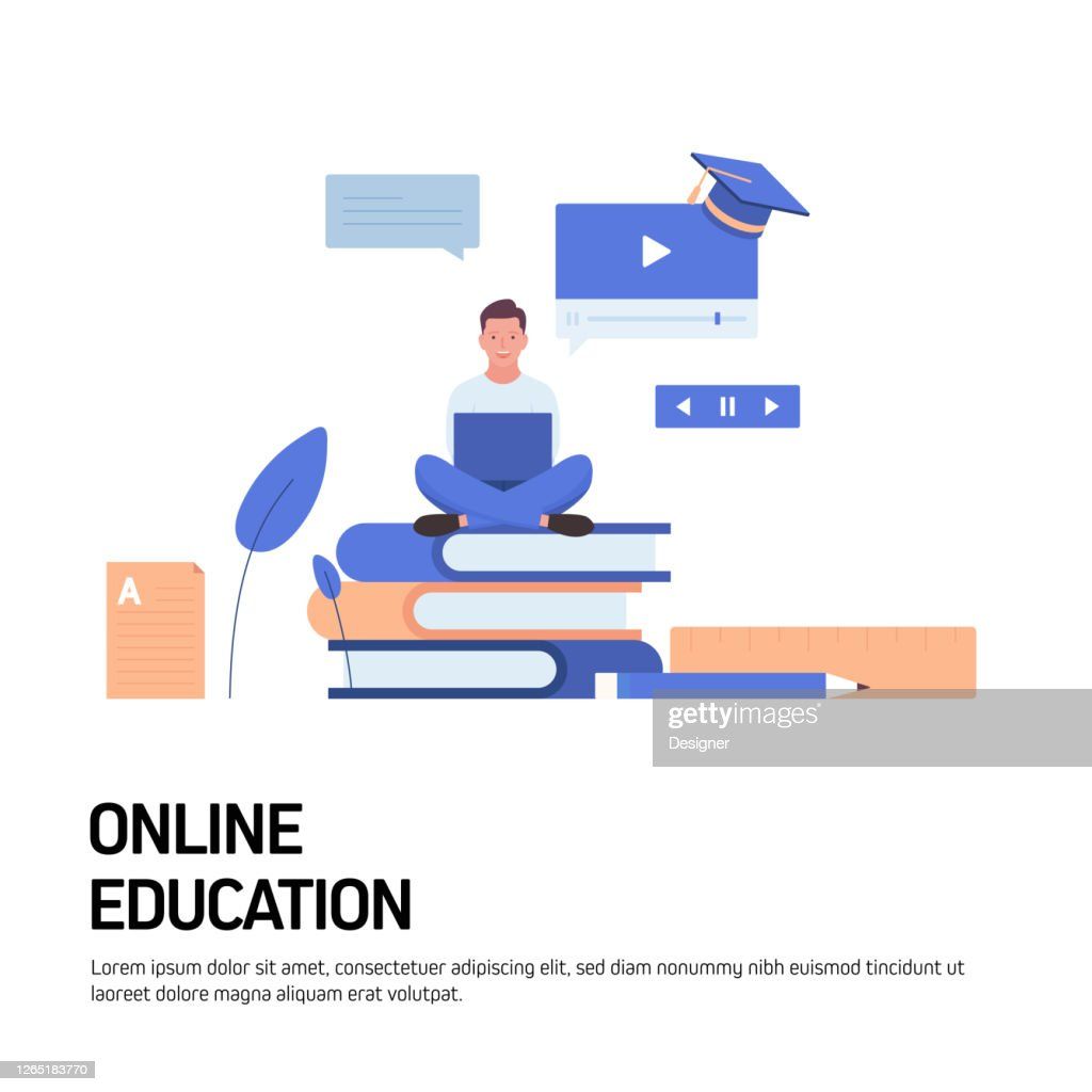 Online Education Elearning Distance Education Concept Vector Illustration For Website Banner Advertisement And Marketing Material Online Advertising Business Presentation Etc High Res Vector Graphic Getty Images