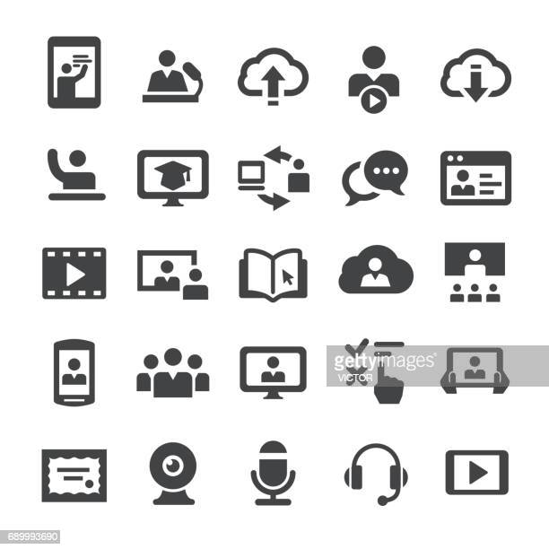 online education icons - smart series - instructor stock illustrations