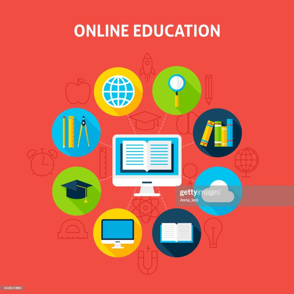 Online Education Infographic Concept