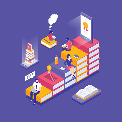 Online education isometric concept - gettyimageskorea