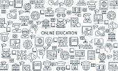 Online education line banner