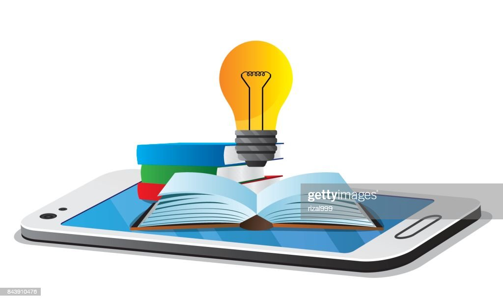 online education object on smartphone