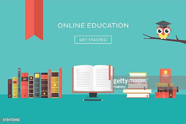 online-bildung - enciclopedia stock-grafiken, -clipart, -cartoons und -symbole