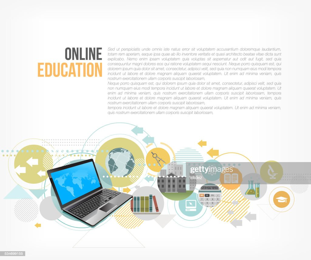 Online Education : stock illustration