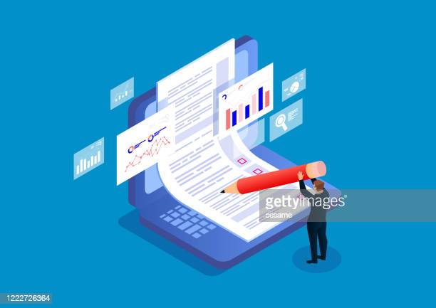 online exams, questionnaires, online recruitment - data stock illustrations