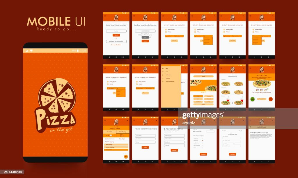 Online Food Order Mobile App UI, UX and GUI.