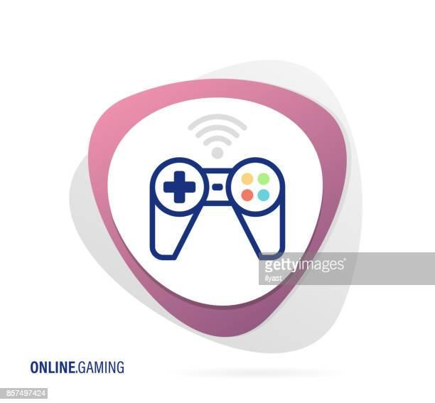 online gaming icon - joystick stock illustrations, clip art, cartoons, & icons