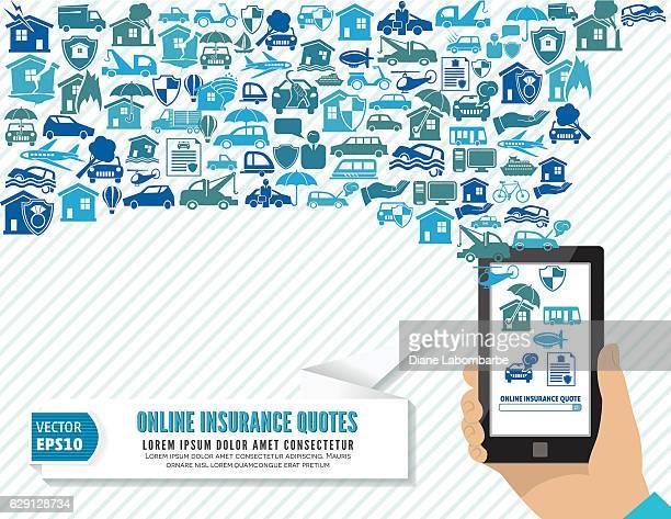 online insurance concept - hailstone stock illustrations, clip art, cartoons, & icons
