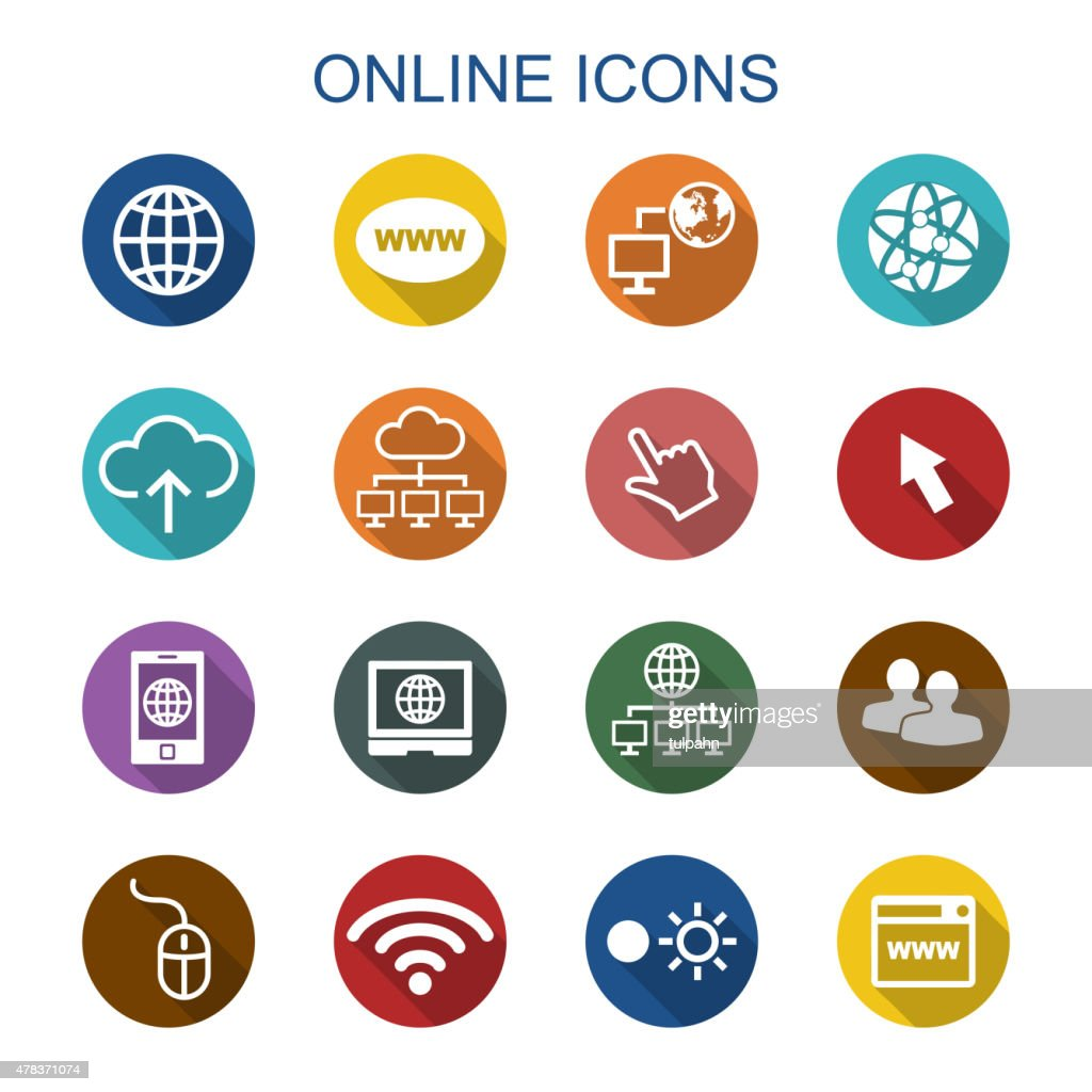 online long shadow icons