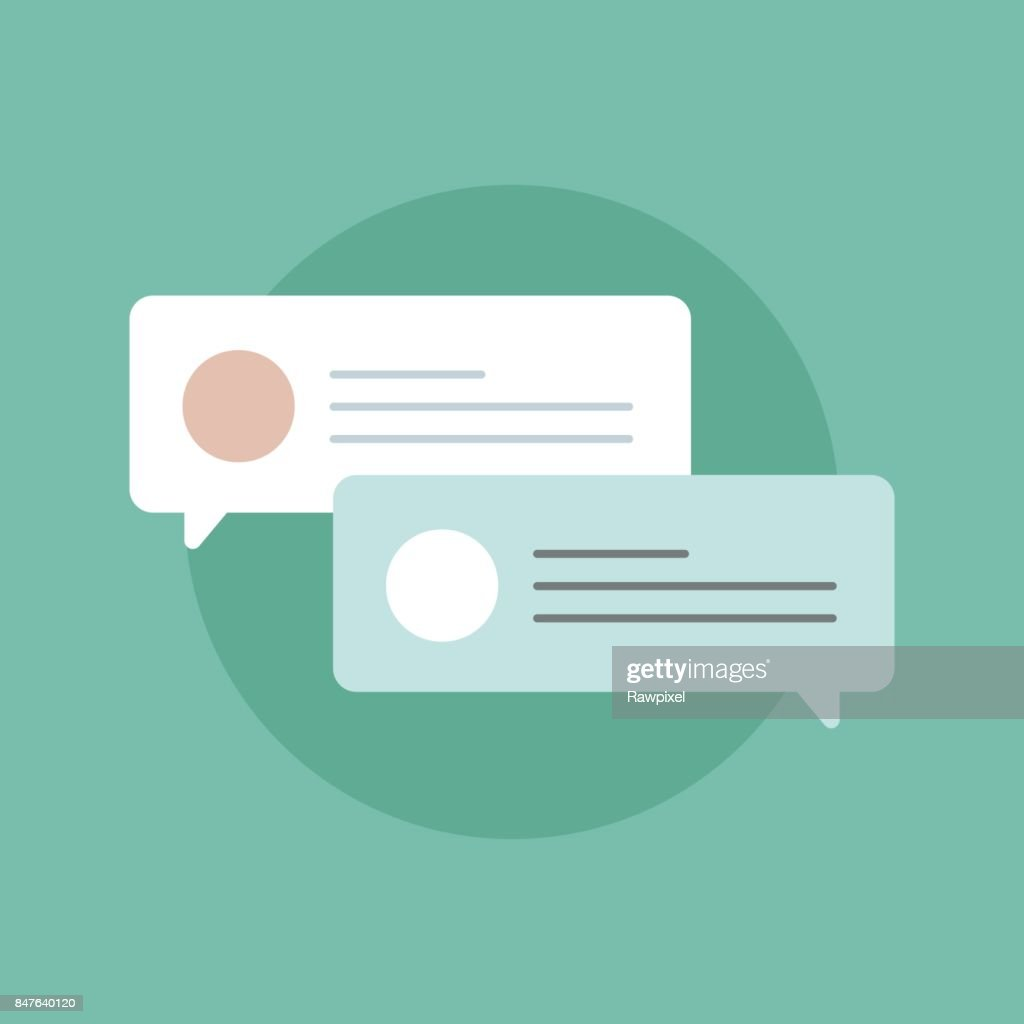 Online messaging icon vector