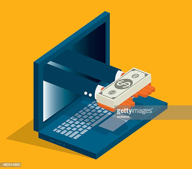 online money - incentive stock illustrations, clip art, cartoons, & icons