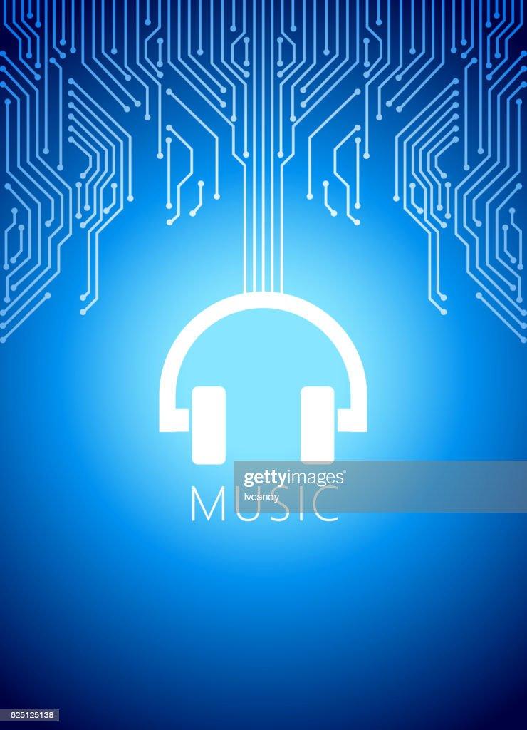 Online music : stock illustration