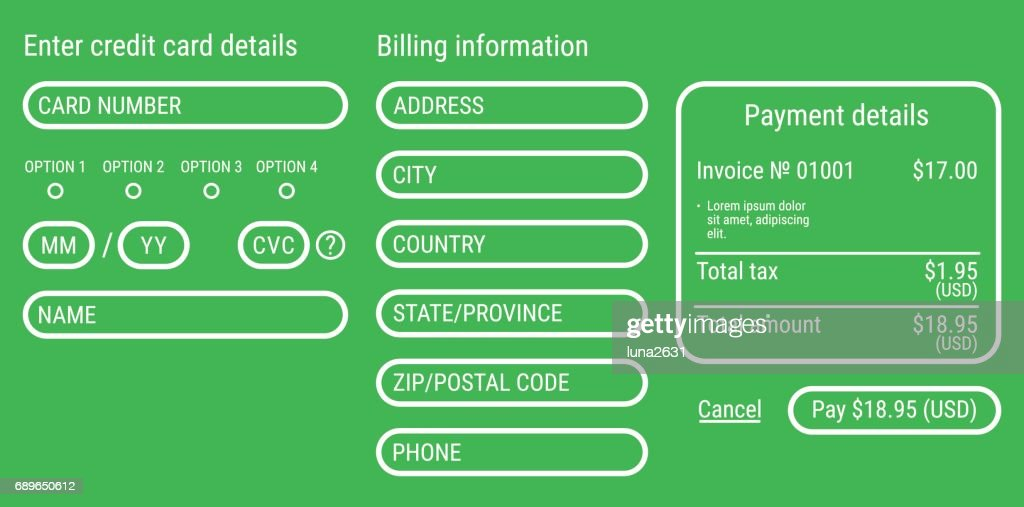 online payment form online digital invoice vector art getty images