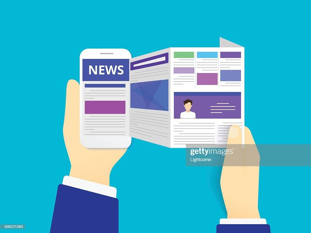 Online reading news