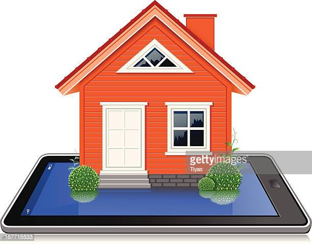 online real estate - model to scale stock illustrations, clip art, cartoons, & icons
