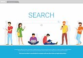 Online search bar concept vector illustration