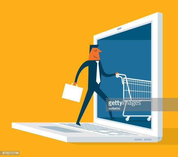 Compras en línea - empresario
