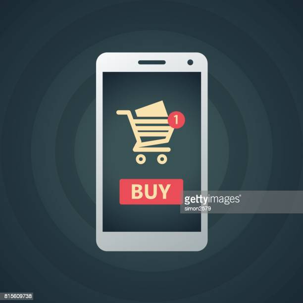 Online Shopping Cart with smart phone