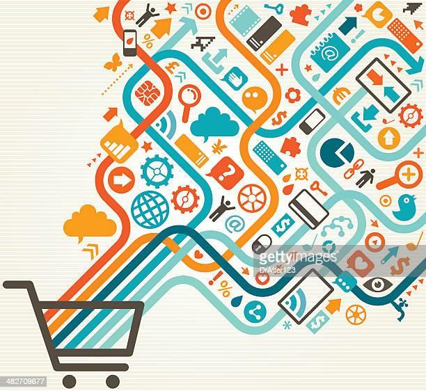 Shopping en ligne motif Diagonal