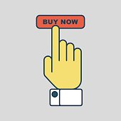 online shopping hand presses to buy
