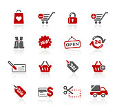 Online Shopping Icons // Redico Series