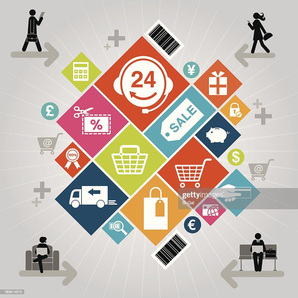 Online Shopping : stock vector