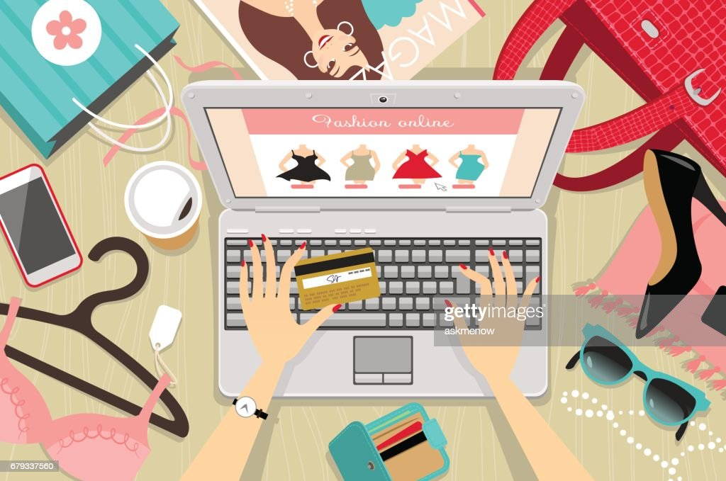 Online shopping : stock illustration