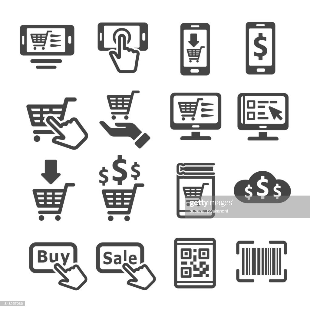 online shopping,e-commerce icon