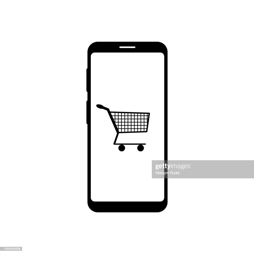 Online store icon on white background