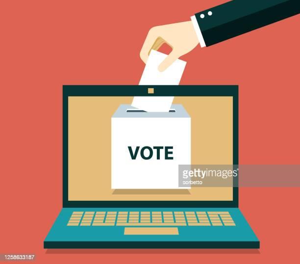 ilustrações de stock, clip art, desenhos animados e ícones de online vote - parte do corpo humano
