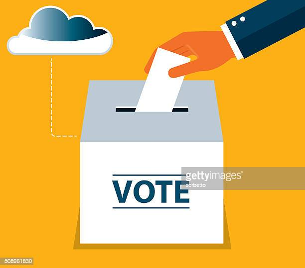 on-line voting - on the move stock illustrations