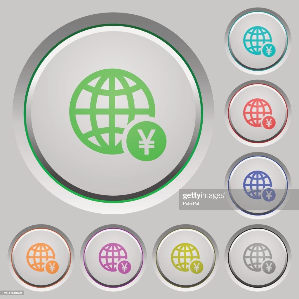 Online Yen payment push buttons