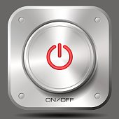 On-Off Metal Button (Red)