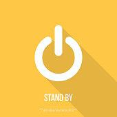 On/Off switch icon. Power symbol. Flat design.