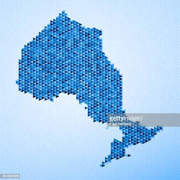 Ontario Map Triangle Pattern Blue