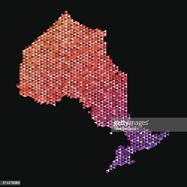 Ontario Map Triangle Pattern Orange