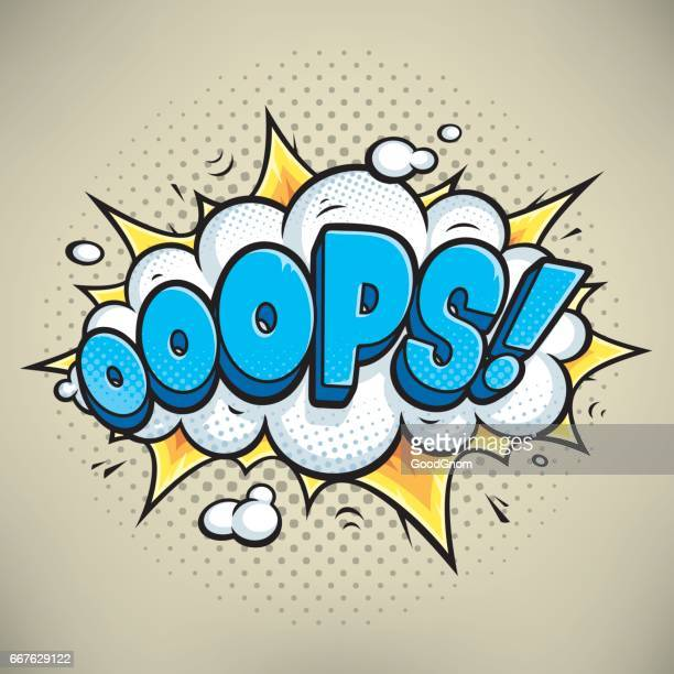 illustrations, cliparts, dessins animés et icônes de ooops! - bulle bd