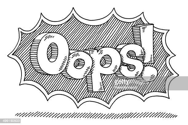 stockillustraties, clipart, cartoons en iconen met oops! comic text drawing - foutmelding