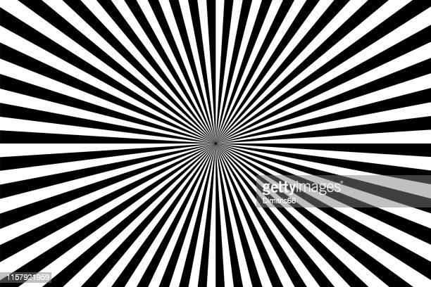 ilustrações de stock, clip art, desenhos animados e ícones de op art: abstract diminishing perspective background - ponto de fuga