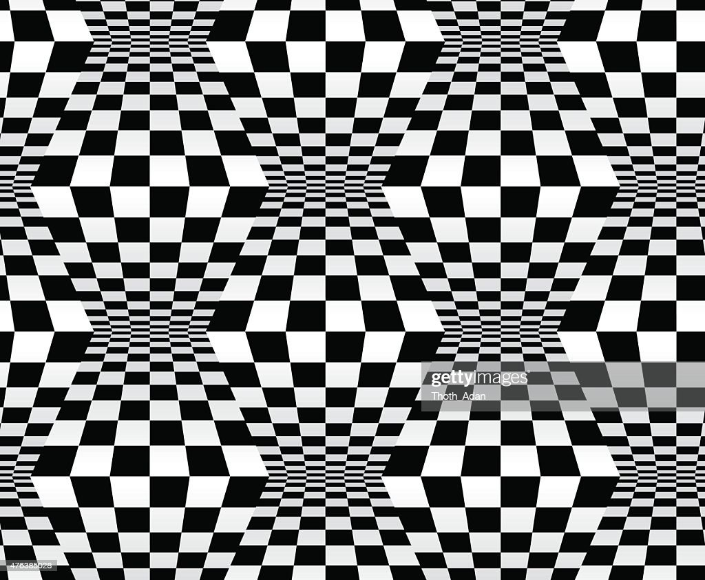 Op art: checkred boxes (Seamless optical pattern n° 10)